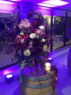 Burgundy Ceremony Decor