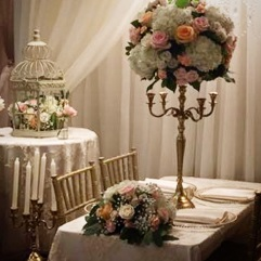 Blush and Gold Candelabra