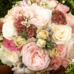 Garden Rose, Rustic Bridal Bouquet