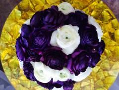 Custom Tinted Deep Purple Ranunculus Bouquet