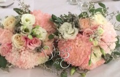 Pink and Ivory Bridesmaid Bouquet
