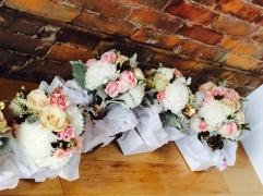 Blush, Gold, Gray Bridesmaid Bouquet