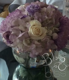Lavender & Ivory Centerpiece